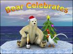 Bear Celebrates. Screensaver info and download page.
