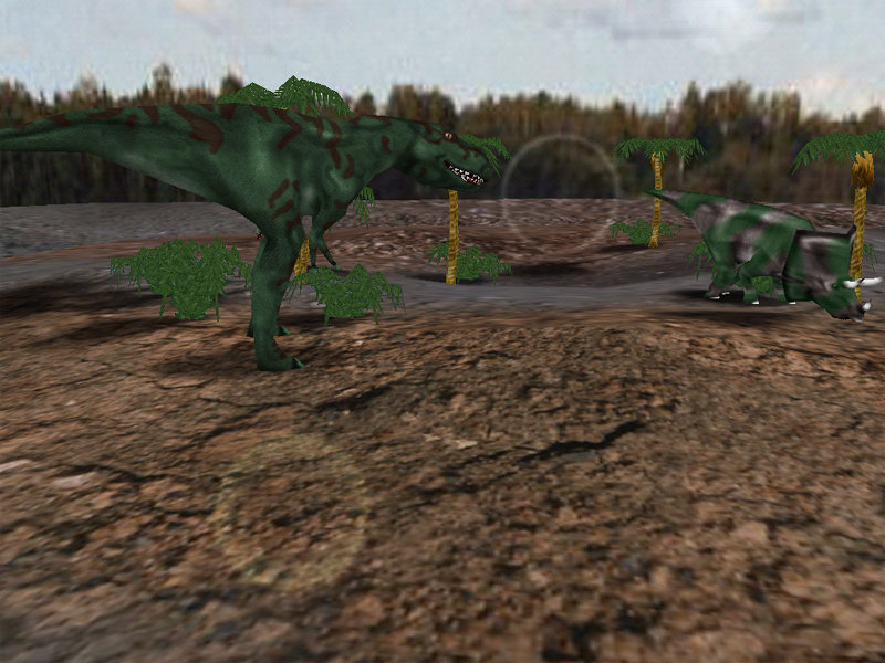 Animated 3D screensaver with 6 types of dinosaurs, 3 scenes and visual effects.