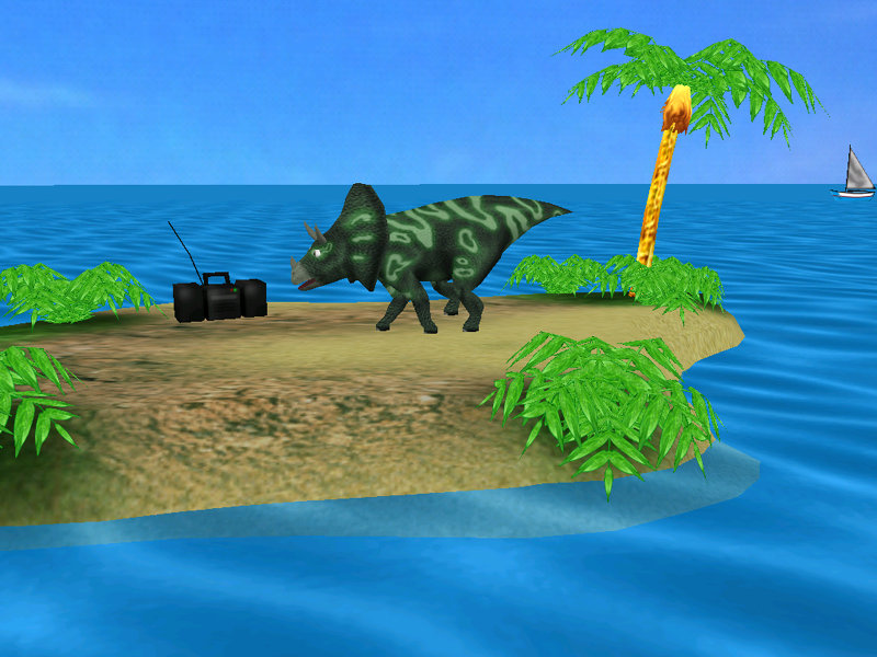 Screenshot of DINO ISLAND Screensaver